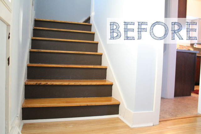 stair risers before and after