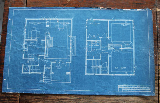 Frank Lloyd Wright American System Built home blueprint