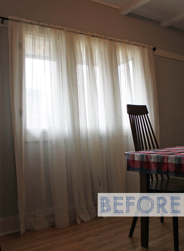 ugly curtains before