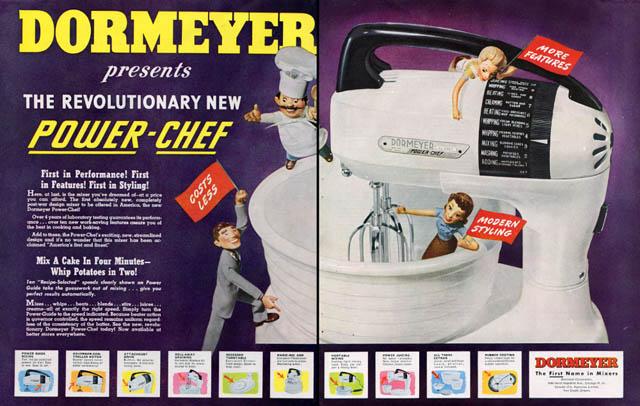 Vintage ad for Dormeyer mixers