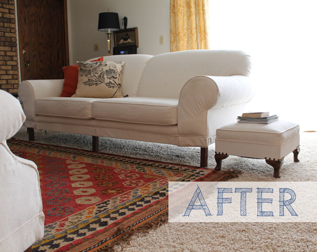 sofa, living room, before and after