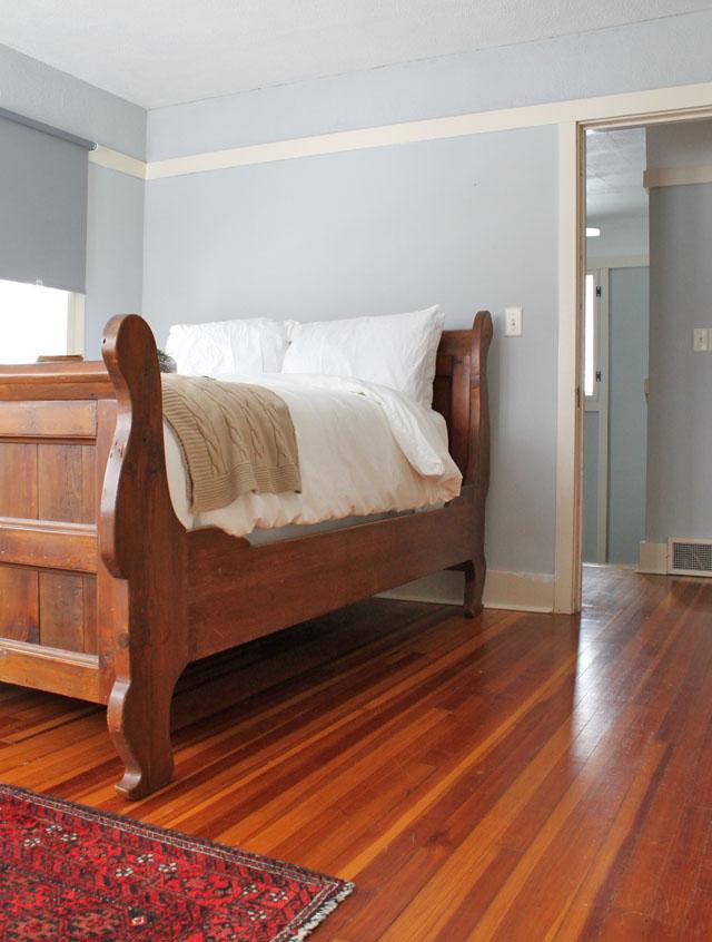 Guest bedroom in Mr. and Mr. Blandings' house