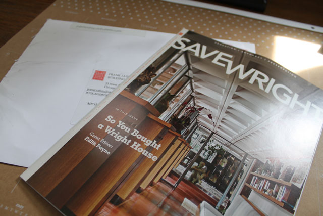 "Save Wright Magazine Issue ""So You Bought a Wright House"""