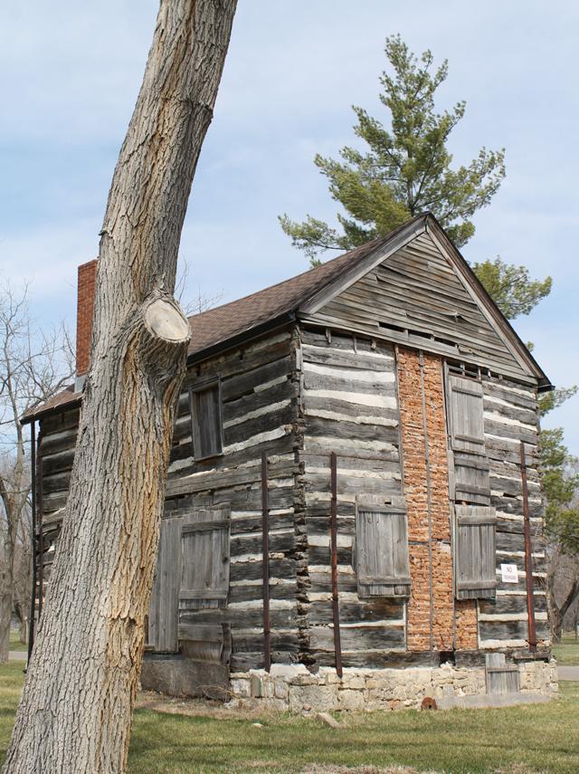 An old building at Villa Louis in Prairie du Chien, WI