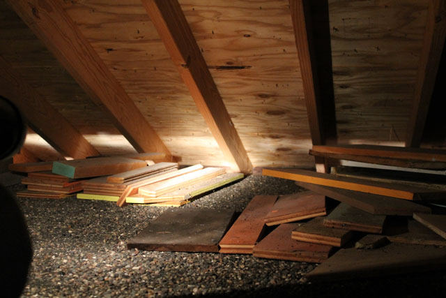 Attic space above the garage in our American System-Built home