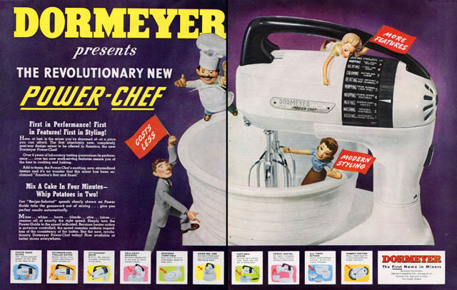 Vintage ad for Dormeyer mixers
