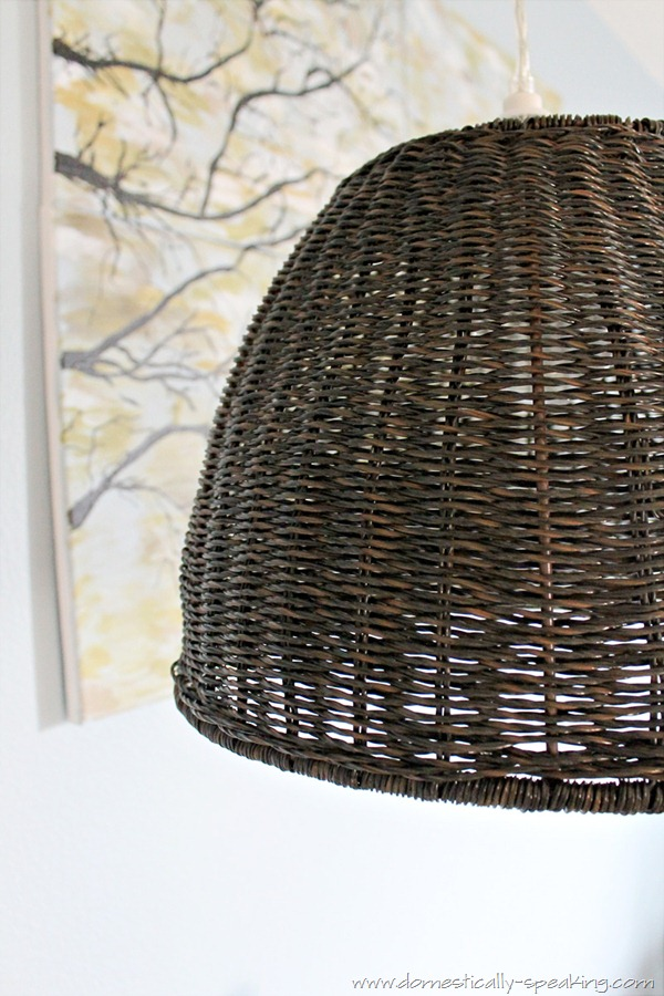 DIY Trash Can Pendant Light