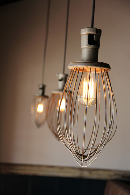 Industrial Whisk Pendant
